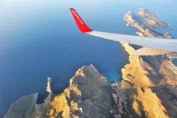 Anflug auf Mallorca über Cap Formentor