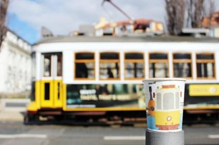 Beliebtes Fotomotiv: Die Tram in Lissabon