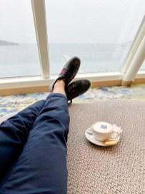Bei dichter Bewölkung lässt es sich am besten in der Himmel & Meer Lounge entspannen