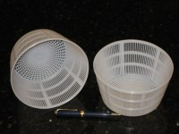 Large (Ricotta etc) Tapered Gravity Draining Baskets, 625w x 325d inch, 159w x 83d mm - CheeseForum.org