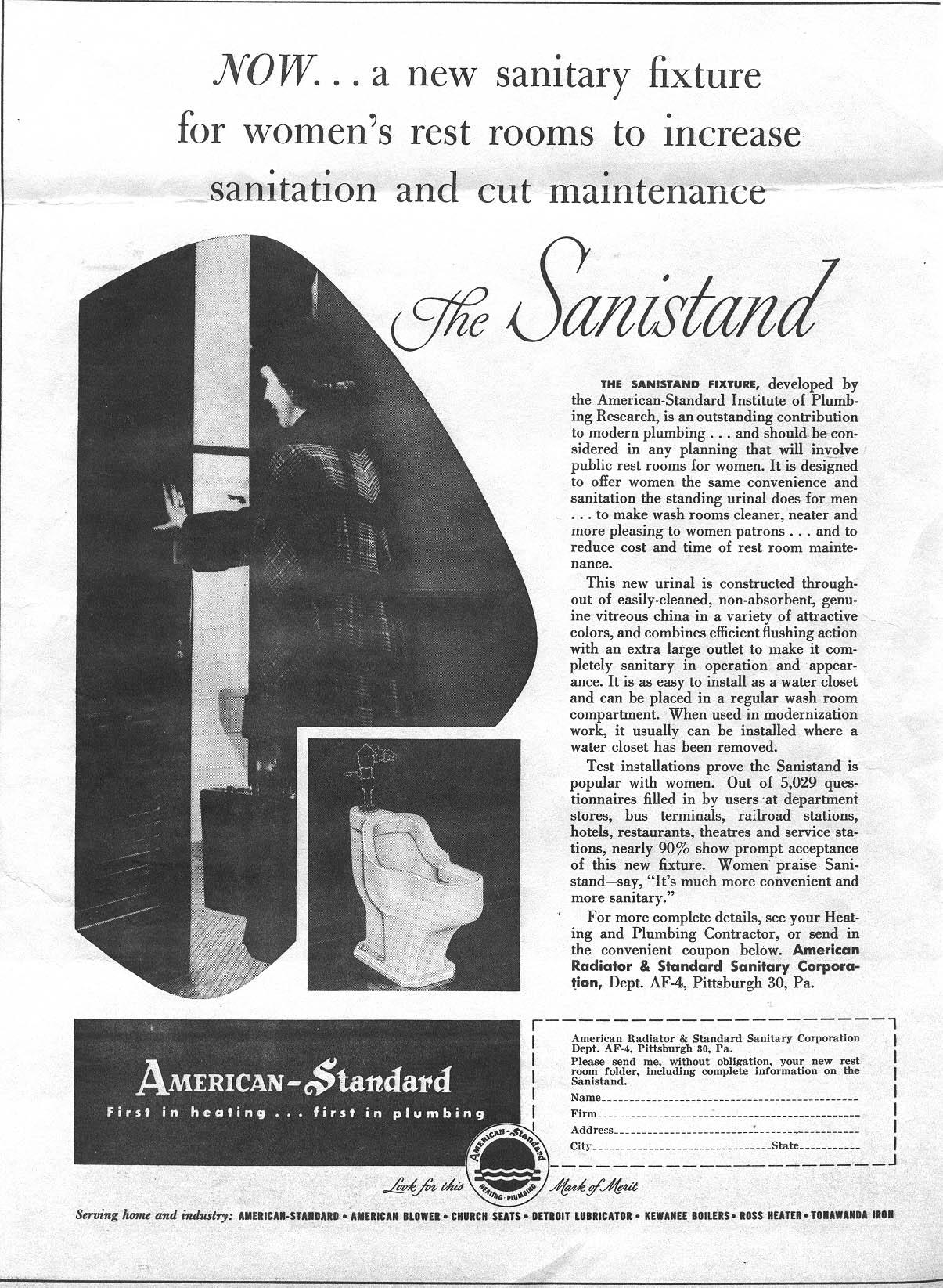 American Standard Wall Mount Sink