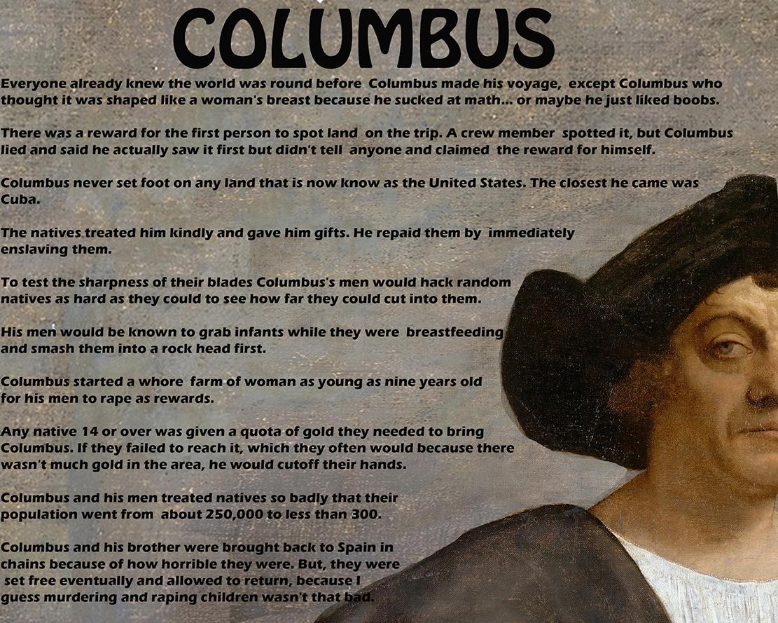 Columbus Fun Facts Cheese God