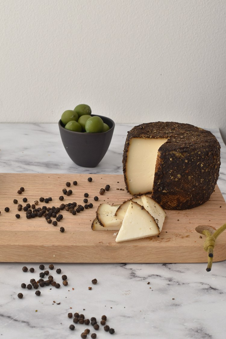 Goat cheese with pepper