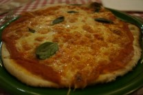 gluten-free Pizza Margaritha at Da I Sandri