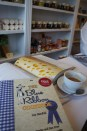 a typical morning - having a coffee and immersing in cheese and cook books