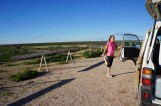 running along the Nullarbor and little golf course in the back