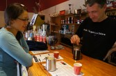 Coffee tasting at Yahava Koffee Company