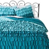 Target-Xhilaration Ruffle Comforter Set (Blue)