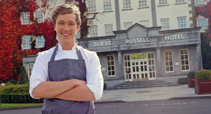 Chef Adrian Martin at the Slieve Russell Hotel.  Photo: Lorraine Teevan