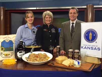 Stacy Mayo, From the Land of Kansas Director, Chef Alli, Chris Fisher, February 2015, WIBW 13 News This Morning.