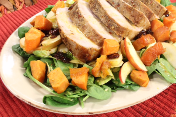 Pork Loin and Sweet Potatoes is Fall on a Plate