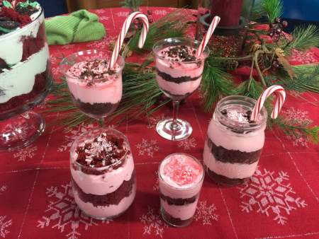 Individual Peppermint Cheesecake Trifles