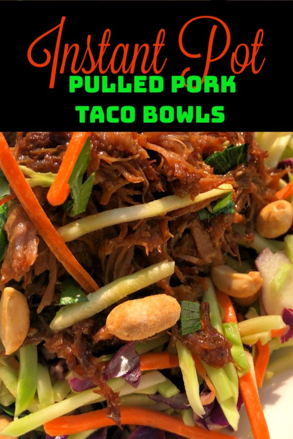 Korean Pulled-Pork Tacos with Broccoli Slaw are an absolute fan-favorite around my house, especially since I've begun using my Instant Pot nearly every day for cooking lots of MEAT. These tacos are super easy to make and we love how flavorful they are - a delicious fusion of Asian flavors mingled with the pork, plus crunchy broccoli slaw and peanuts.... to die for, I tell you! #pulledpork #Asian #instantpot