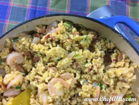 Fried Rice with Shrimp, Bacon, and Spam | Chef Alli's Farm Fresh Kitchen