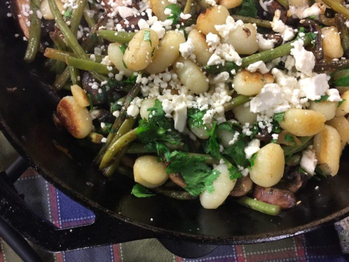Garlic Potato Gnocchi with Mushrooms and Feta | Chef Alli's Farm Fresh Kitchen