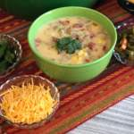 """Are you yearning for a super tasty """"dump and go"""" soup? Dig into this hearty Tex Mex Corn Chowder!"""