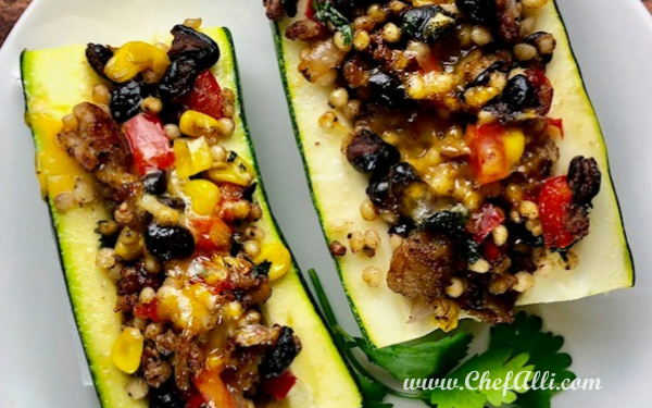 Low-Carb Mexican Zucchini Boats