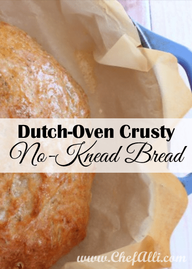 Dutch Oven Crusty No-Knead Bread is the bread recipe you've been looking for!