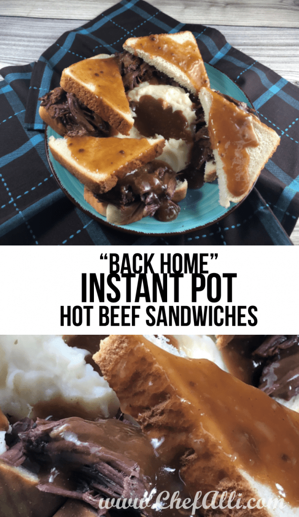 Back home Instant Pot hot beef sandwiches make this nostalgic meal in a fraction of the time!