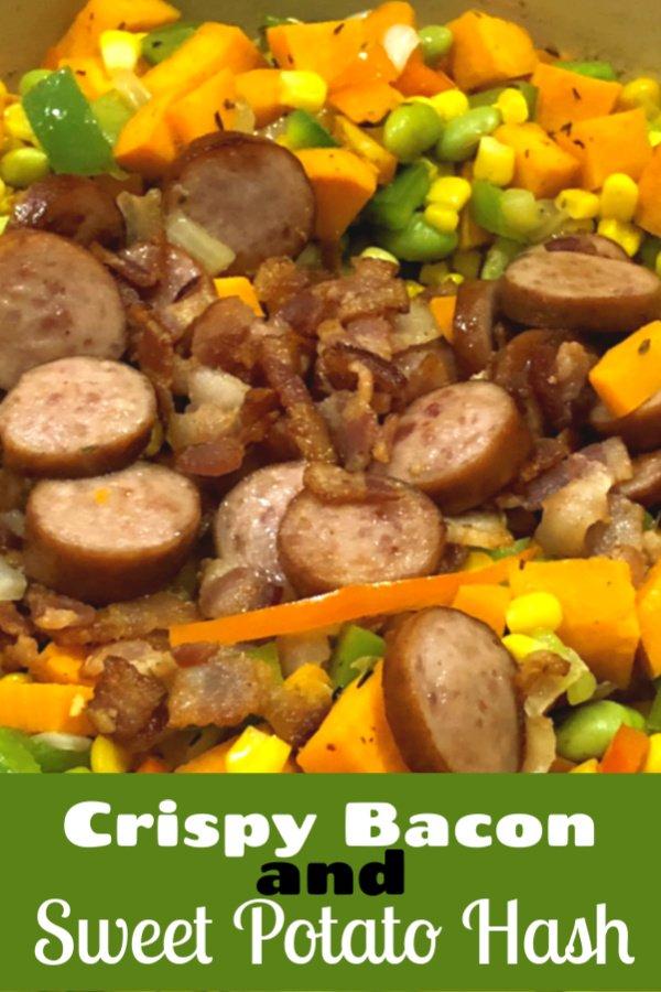 sliced kielbasa sausage with vegetables