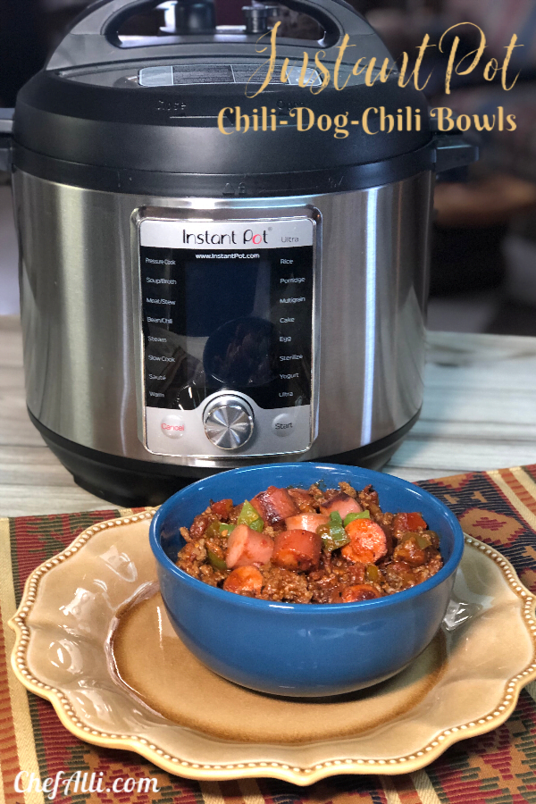We absolutely cannot stop eating this chili! It's hearty, low-carb, no-beans and chock full of ground beef...the hot dogs are an added bonus!
