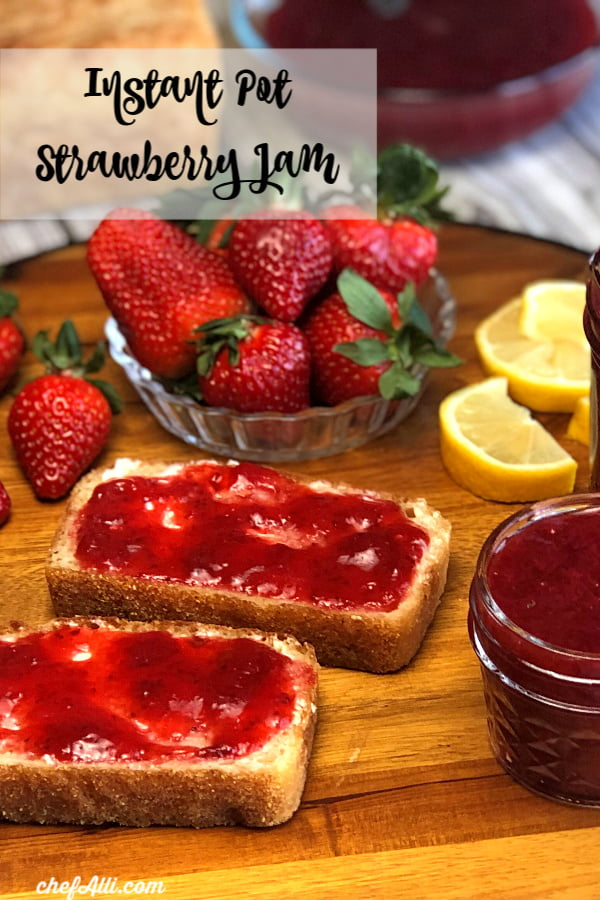 Instant Pot Strawberry Refrigerator Jam is so simple to make, you'll never believe it! And you don't even need any pectin.
