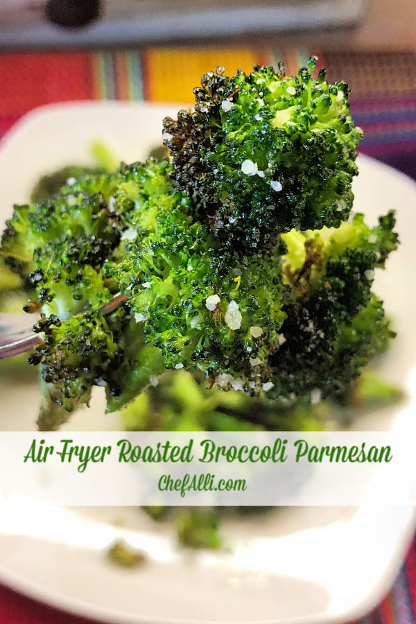 Need some crispy, roasted broccoli in a flash? This Air Fryer Roasted Broccoli Parmesan is sure to become a staple side dish that's easy, fast, and tasty for your hungry family. We won't make it any other way now!