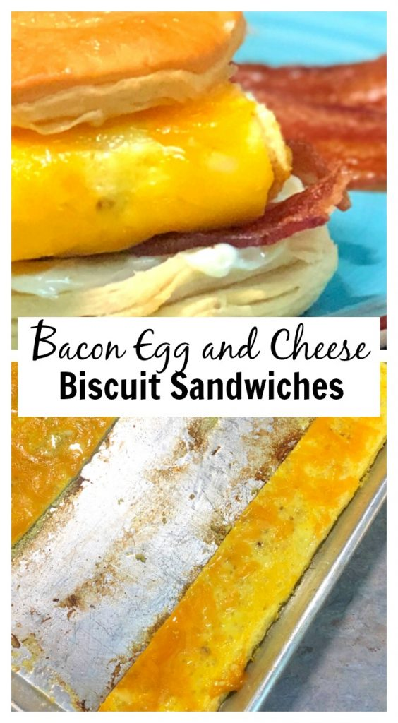 When it comes to breakfast, what's better than a warm, yummy Bacon, Egg and Cheese Biscuit Sandwich? Having these on hand to pull out of the freezer and pop into the oven on busy school mornings has saved my bacon more times than I can even say.