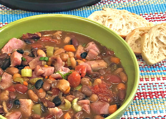 a bowl of Ham and Bean Soup