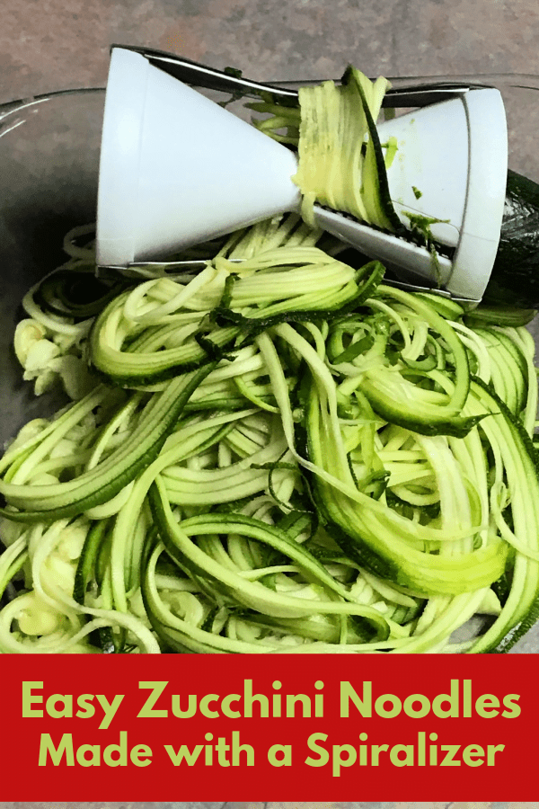 Zucchini noodles are easy to make with a spiralizer.
