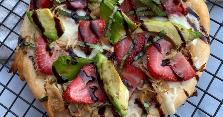 Strawberry, Avocado & Chicken With Balsamic Glaze Pizza