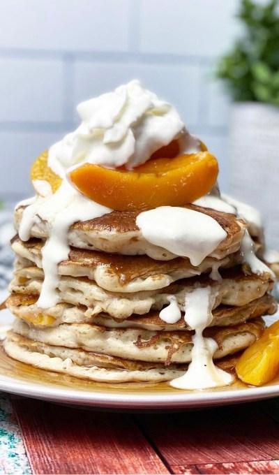Peaches & Cream Pancakes