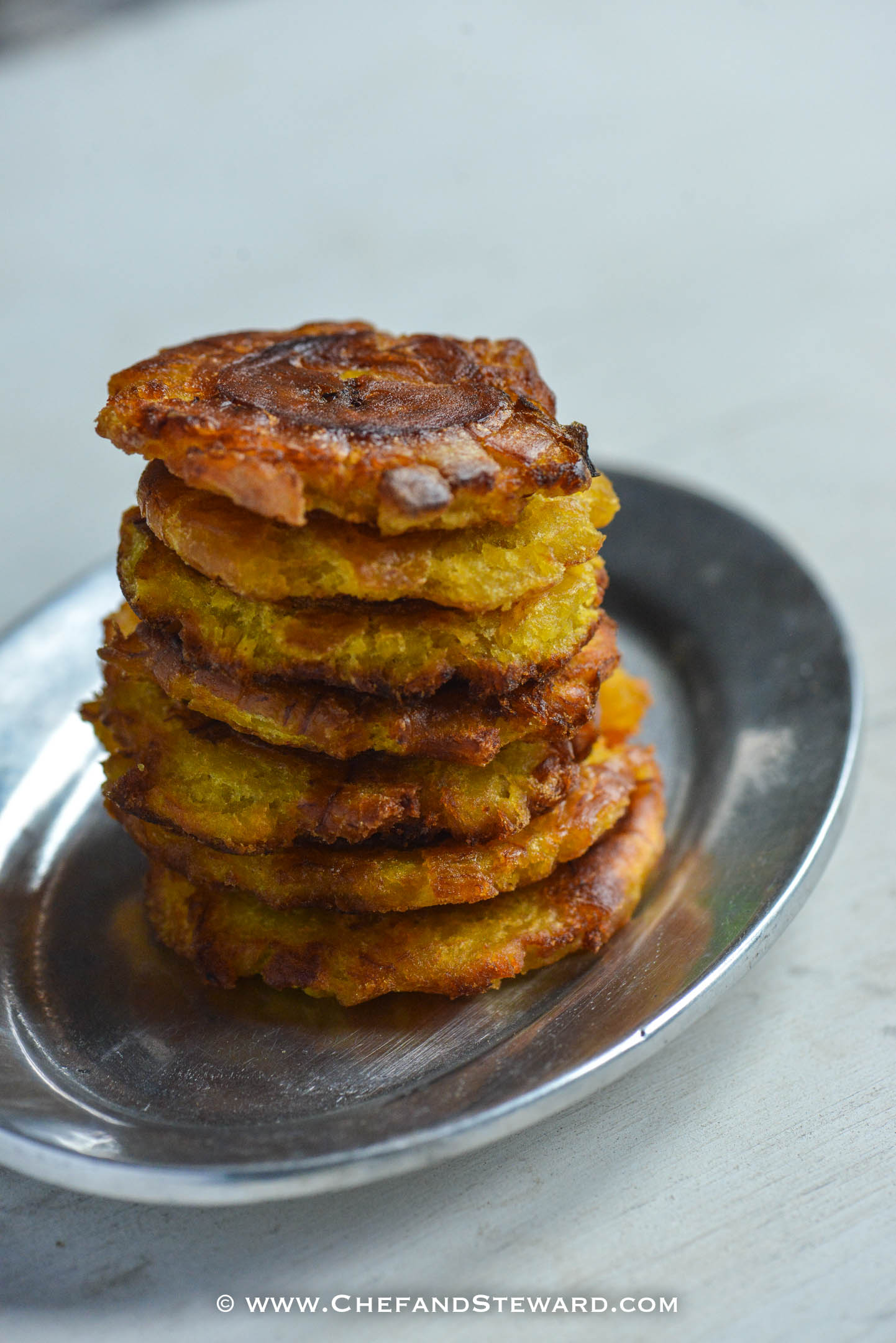 How to Make Tostones (Jamaican Pressed Green Plantain)
