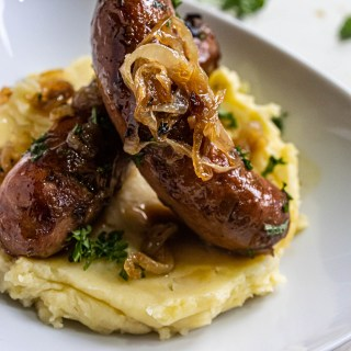 Bangers and Mash Sausage and Potatoes