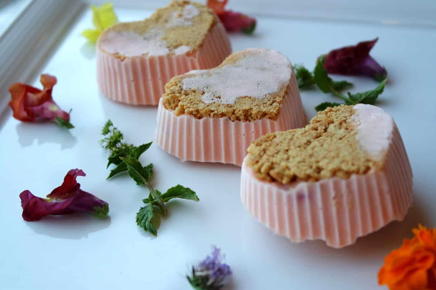 Mini Frozen Strawberry Cheesecakes