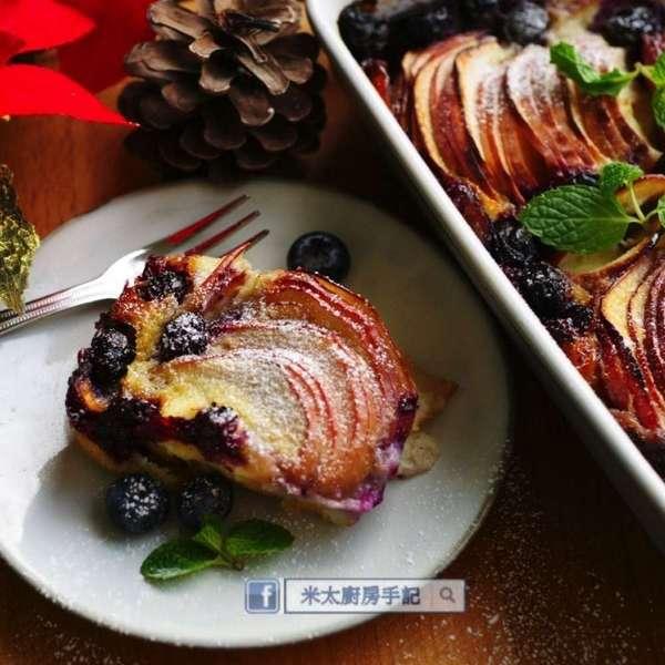 法式蘋果藍苺布甸蛋糕