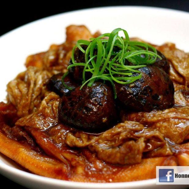 麵筋冬菇炆鴨掌