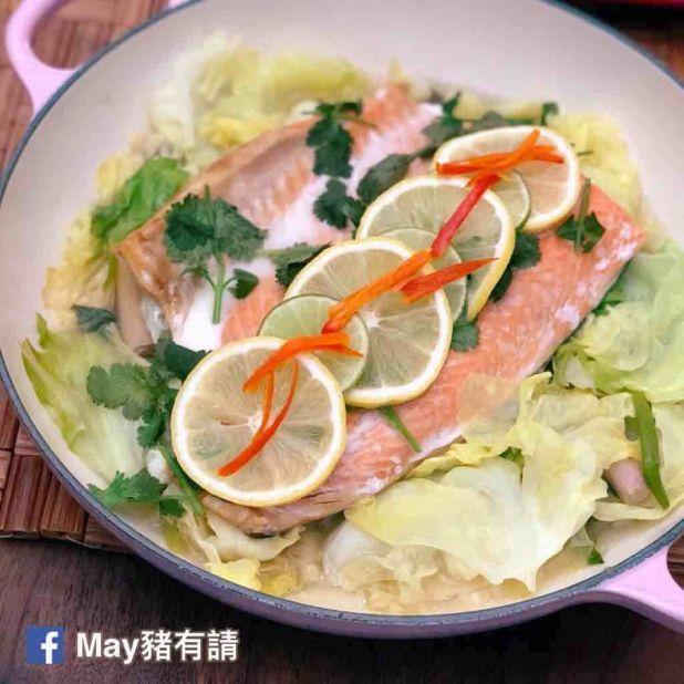 無水蒸香茅檸檬三文魚