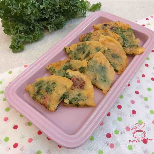 羽衣甘藍泡菜煎餅