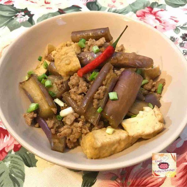 茄子肉碎燴豆腐