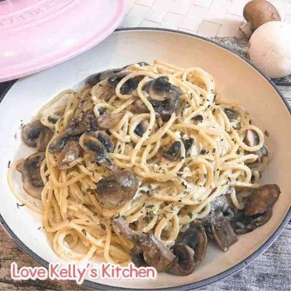 奶油蘑菇意大利粉