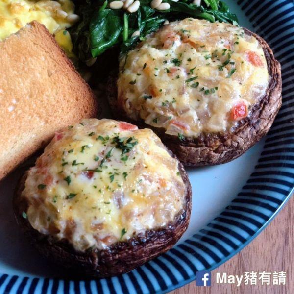 番茄洋蔥焗釀大啡菇