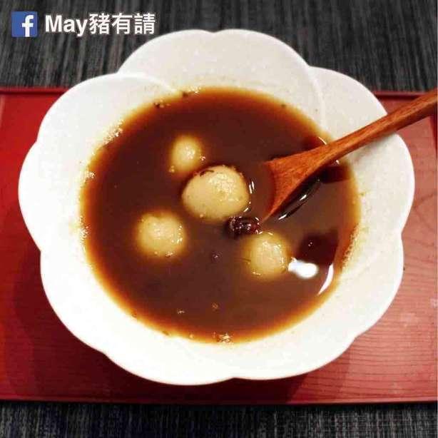 桂花紅豆湯圓