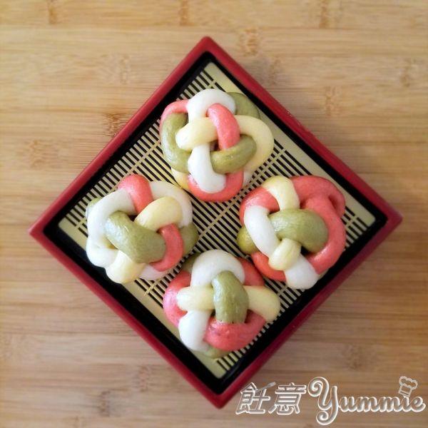 四色繡球饅頭