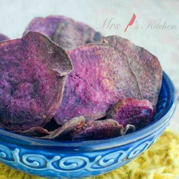 健康香脆紫薯片