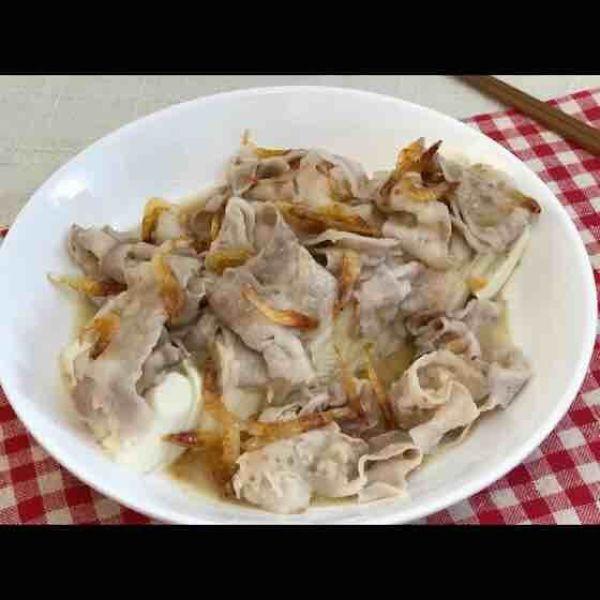 櫻花蝦麻醬豬腩片豆腐