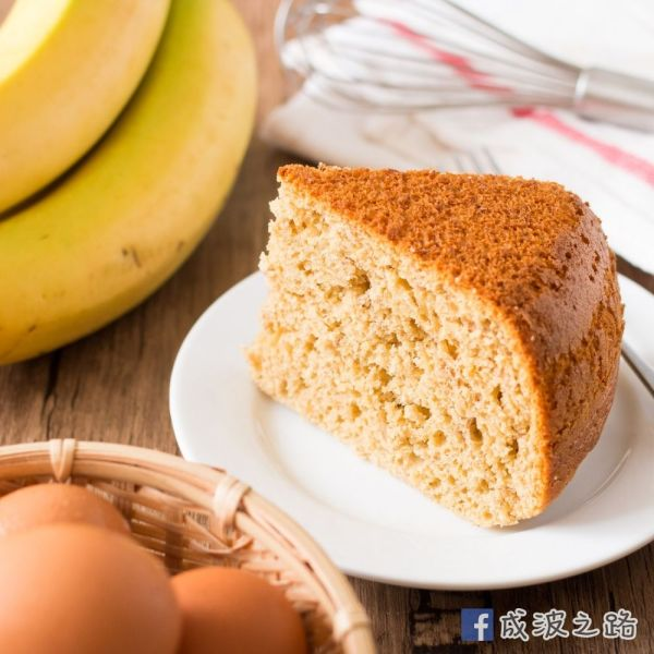 電飯煲焗蛋糕:3種材料香蕉蛋糕