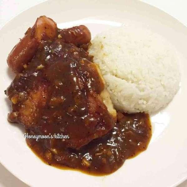 茶餐廳美食之 黑椒雞扒飯