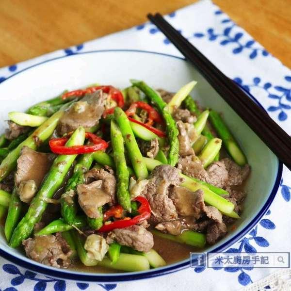 蜆蚧蘆筍炒牛肉