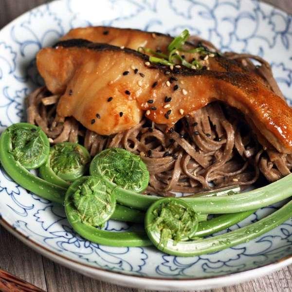 味噌醬燒鱈魚 拌 麻香味噌蕎麥麵